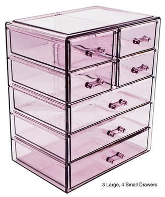Sorbus Purple Makeup & Jewelry Storage Case Display