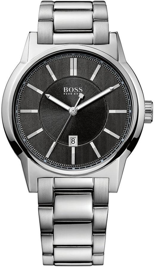 BOSS Hugo Boss Watch, Men's Architecture Stainless Steel Bracelet 42mm 1512913