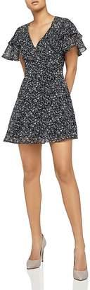 BCBGeneration Ruffled Floral Print Dress