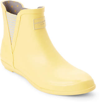 London Fog Yellow Piccadilly Demi Wedge Rain Boots