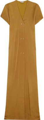Lanvin - Washed-satin Maxi Dress - Saffron $3,055 thestylecure.com