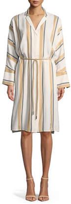 Lafayette 148 New York Calleigh Vienna Stripe Duster Dress