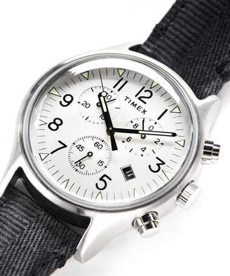 Todd Snyder Timex + Timex MK1 Steel Chronograph with White Dial
