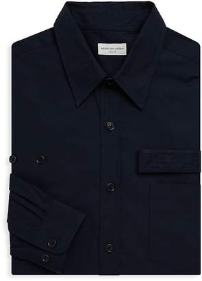Dries Van Noten Men's Long Sleeve Strap Cotton Shirt
