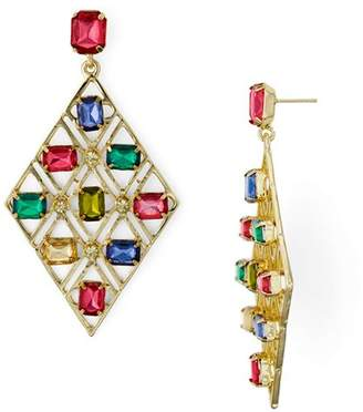Aqua Multicolor Lattice Drop Earrings - 100% Exclusive