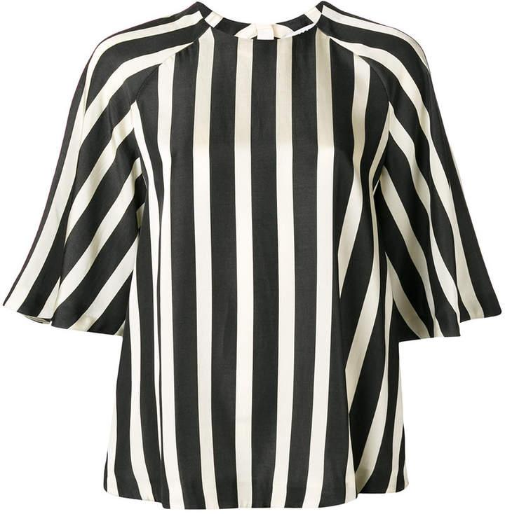 MSGM striped raglan blouse