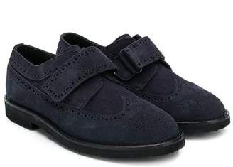 Gallucci Kids touch strap brogues
