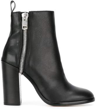 Diesel zip up boots