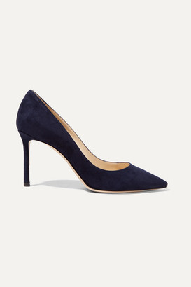Jimmy Choo Romy 85 Suede Pumps - Navy