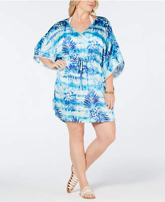 Dotti Plus Size Printed Kaftan Cover-Up Women's Swimsuit