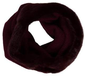 Lafayette 148 Mink-Trimmed Cashmere Infinity Scarf