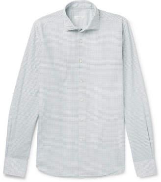 Incotex Slim-Fit Grid-Checked Cotton Shirt
