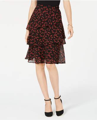 Michael Kors Eden Rose Tiered Skirt in Regular & Petite Sizes