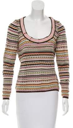 Missoni Patterned Long Sleeve Top