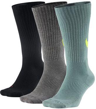 Men's Nike 3-pack Dri-Fit Swoosh HBR Crew Socks $20 thestylecure.com