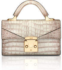 Stalvey Mini Crocodile Top Handle Bag, Neutral
