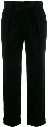 Saint Laurent high waisted corduroy trousers
