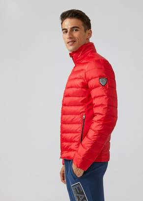 Emporio Armani Ea7 Padded Windproof Technical Fabric Jacket