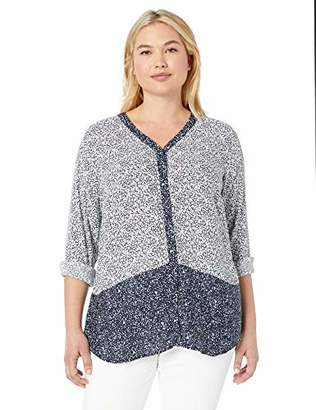 Foxcroft Women's Daisy Ditsy Floral Blouse