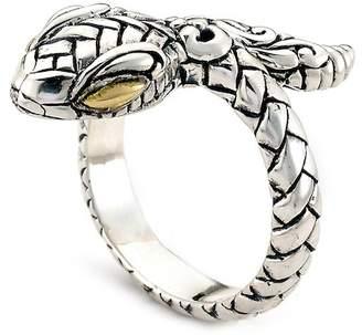 Samuel B Jewelry 18K Gold & Sterling Silver Snake Ring