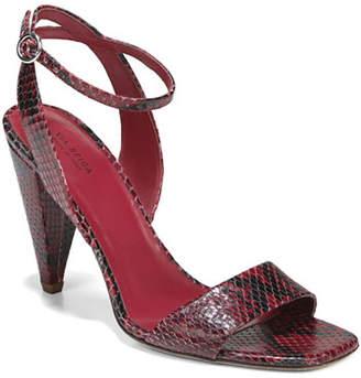 Via Spiga Ria Snake-Print Leather Sandals