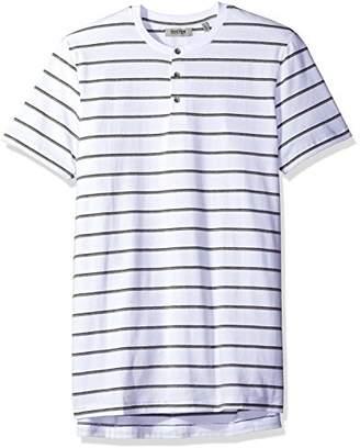 Kenneth Cole Reaction Men's Short Sleeve Stripe Henley