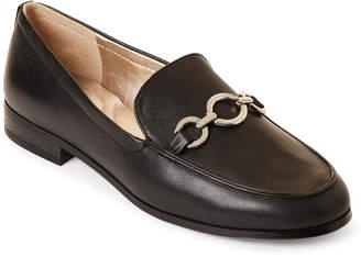 Bandolino Black Lehain Slip-On Leather Loafers
