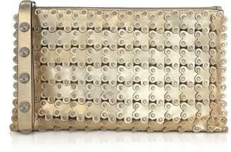 RED Valentino Flower Puzzle Golden Clutch