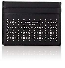 Saint Laurent Men's Studded Leather Card Case - Black