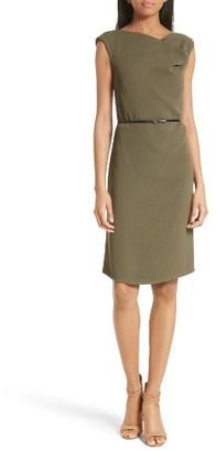 Women's Boss Dosina Belted Sheath Dress $575 thestylecure.com