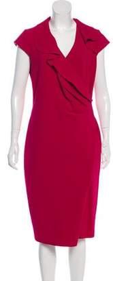 Max Mara Virgin Wool Midi Dress