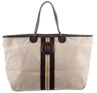 Longchamp Woven Tote Bag