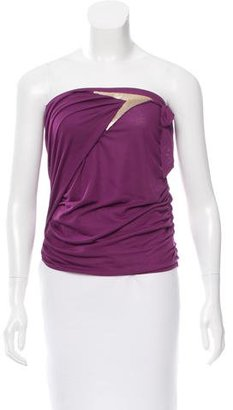 La Perla Ruched One-Shoulder Top w/ Tags $85 thestylecure.com