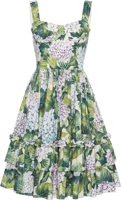 Dolce & Gabbana Floral-Print Cotton Dress $1,995 thestylecure.com