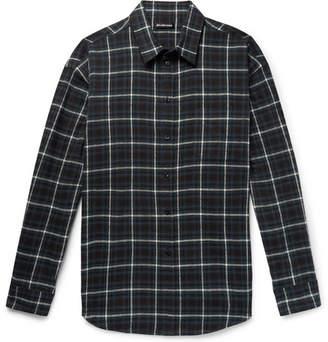 Balenciaga Oversized Checked Cotton-Flannel Shirt