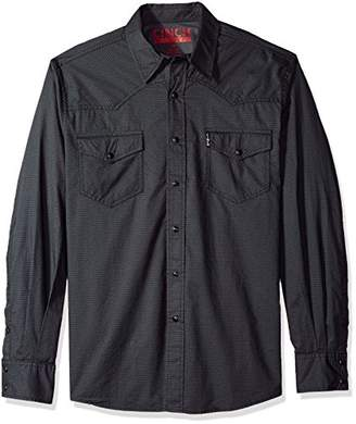 Cinch Men's Modern Fit Long Sleeve Snap Two Flap Pocket Print Shirt