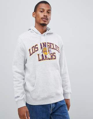 Mitchell & Ness L.A. Lakers overhead hoodie in gray