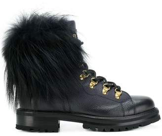 Ermanno Scervino pom pom lace-up boots