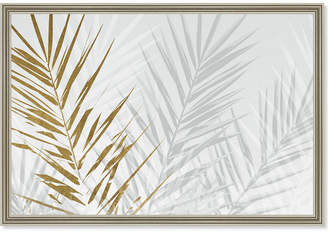 Oliver Gal Eucalyptus Palm Gold By The Artist Co. Framed Art