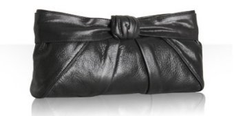 Kooba black metallic leather 'Kellie' clutch