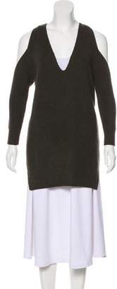 Michelle Mason Cold-Shoulder Wool Knit Top w/ Tags