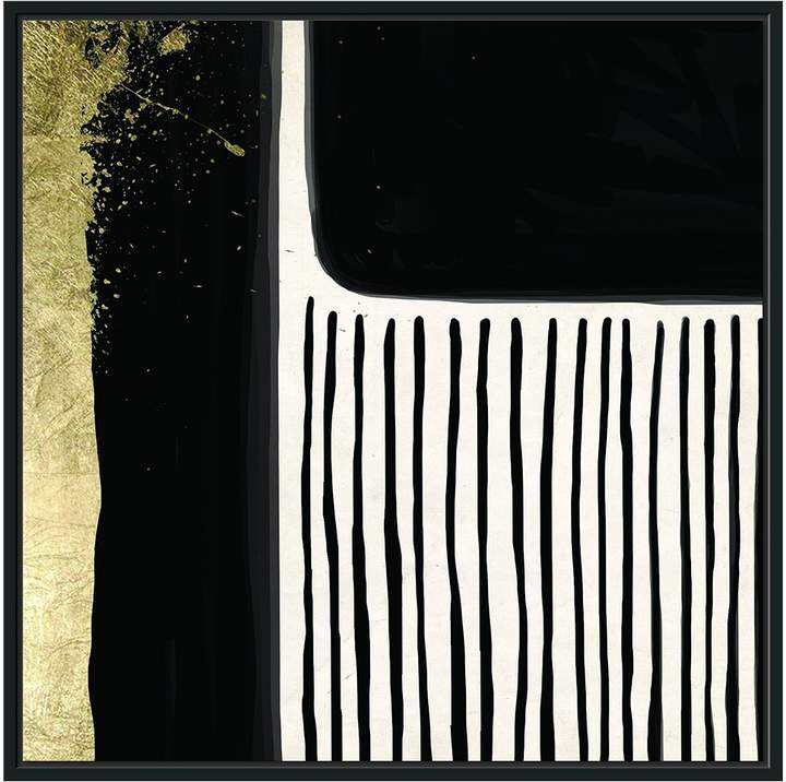 Jonathan Bass Studio Black and Gold Blocks II (Framed Canvas)