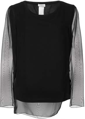 Akris Punto sheer sleeve blouse