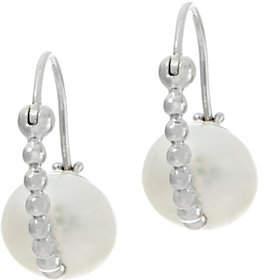 Honora Cultured Pearl Beaded Orbit Earrings,Sterling Silver