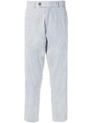 Societe Anonyme Seersucker cropped trousers