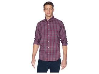 Nautica Long Sleeve Wear to Work Small Plaid Woven Shirt