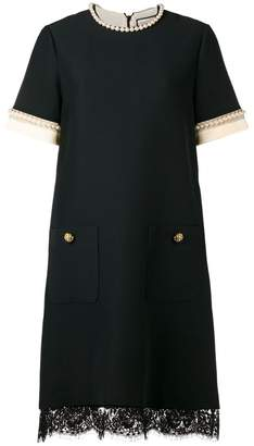 Gucci (グッチ) - Gucci pearl-embellished shift dress