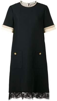Gucci pearl-embellished shift dress