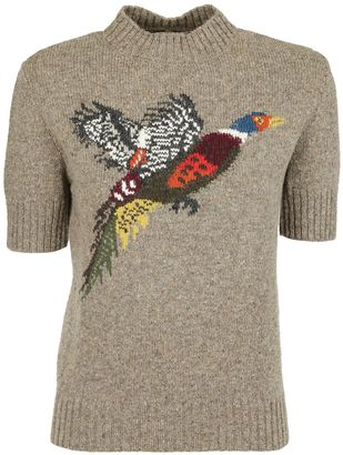 Mulberry Mulberry Embroidered Bird Sweater $456 thestylecure.com