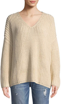 Tularosa Adams Chunky Knit V-Neck Sweater